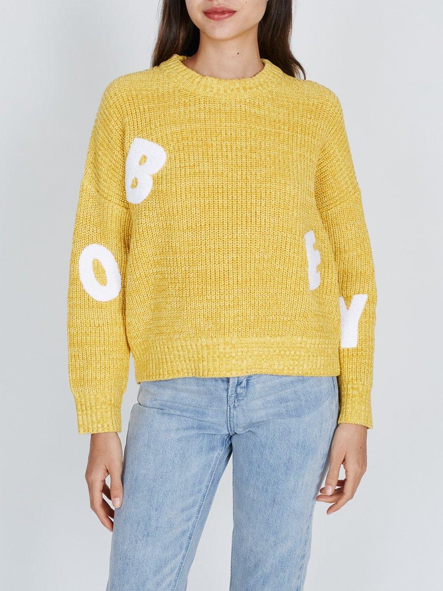 Obey Jumbled Crew Sweater Yellow