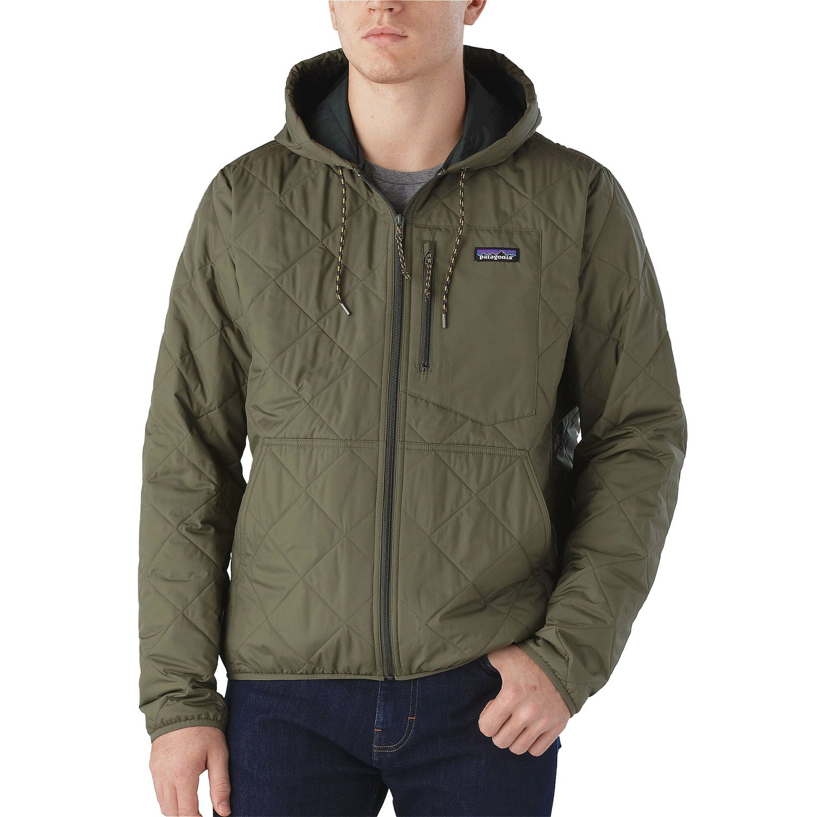 Patagonia Diamond Quilted Bomber Hoody Industrial Green - 889833123953 : patagonia diamond quilt - Adamdwight.com