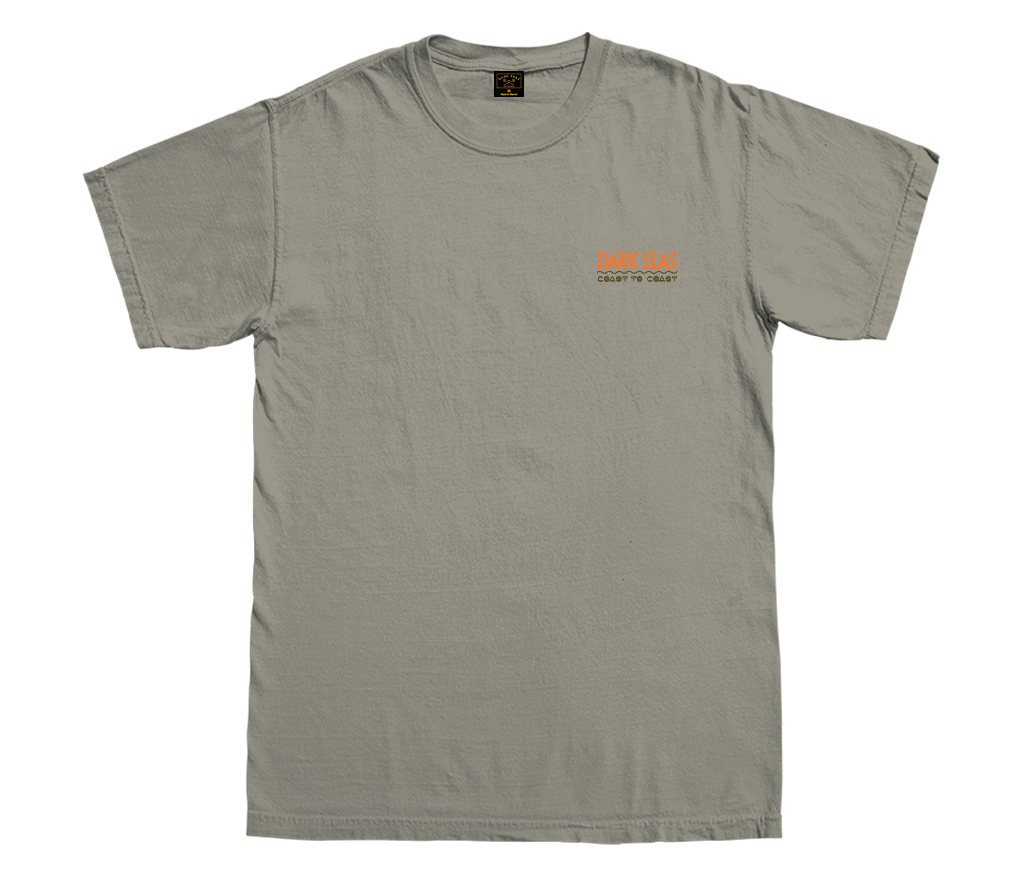 Dark Seas Coast To Coast Tee Sandstone