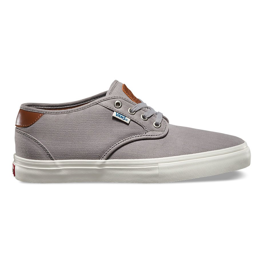cd768b71575956 Vans Chima Estate Pro Shoe (Herringbone)Light Grey - 706421686709
