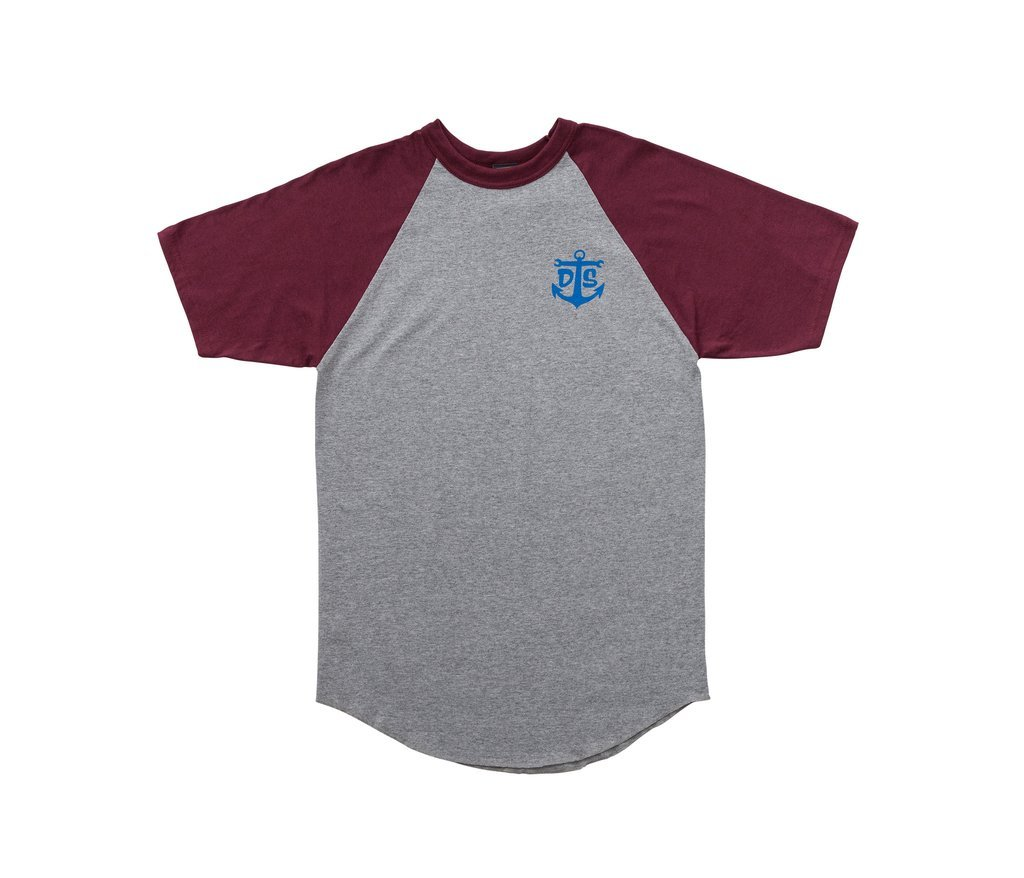 Dark Seas Fellowship Raglan Tee Maroon
