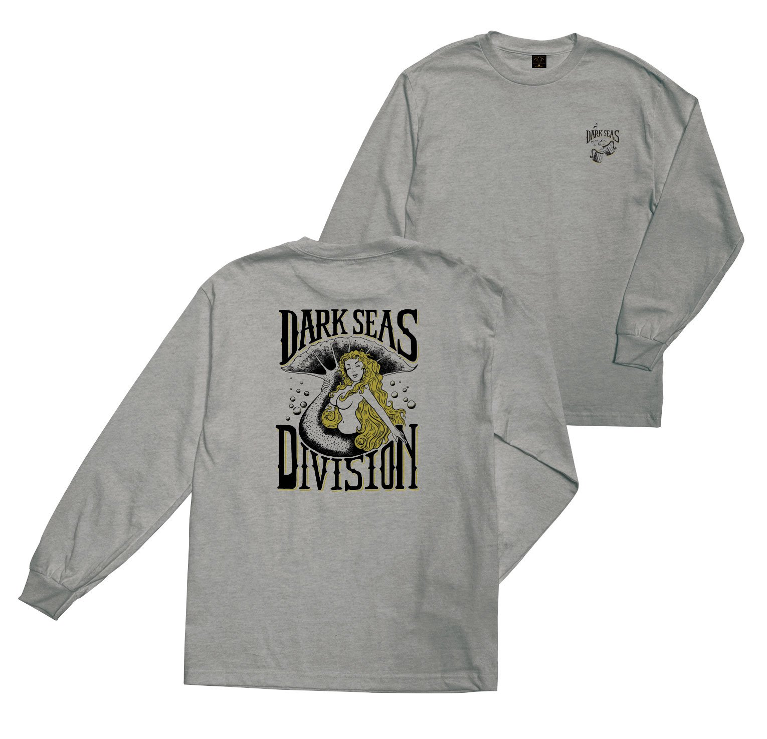 Dark Seas After Hours Longsleeve Tee Heather Grey