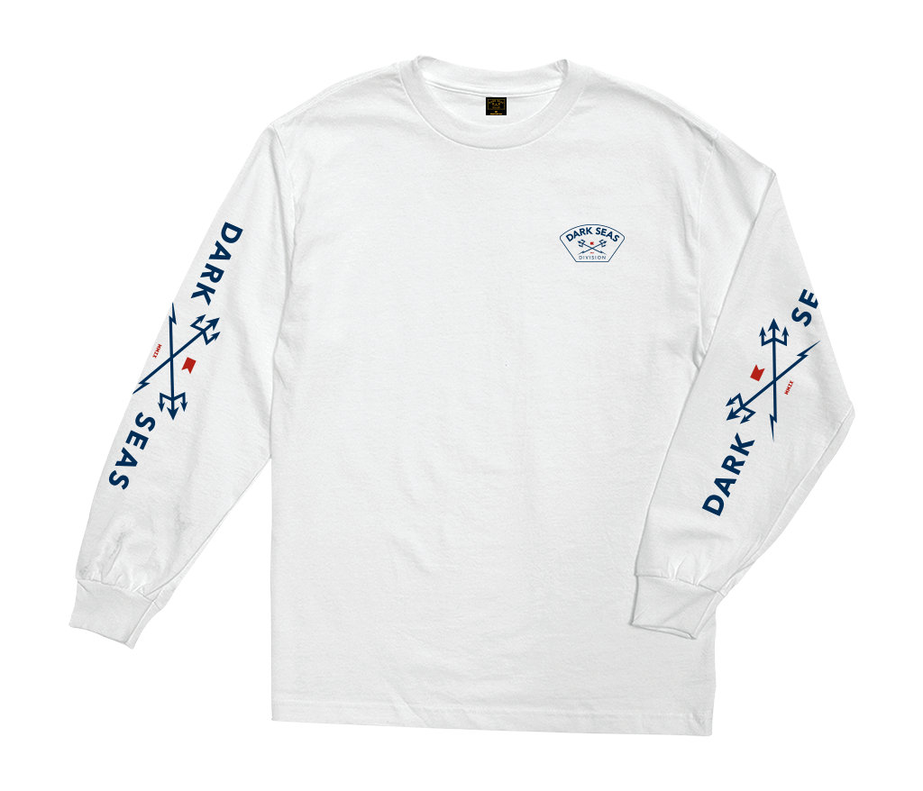 Dark Seas Moisture Wicking Longsleeve Tee White
