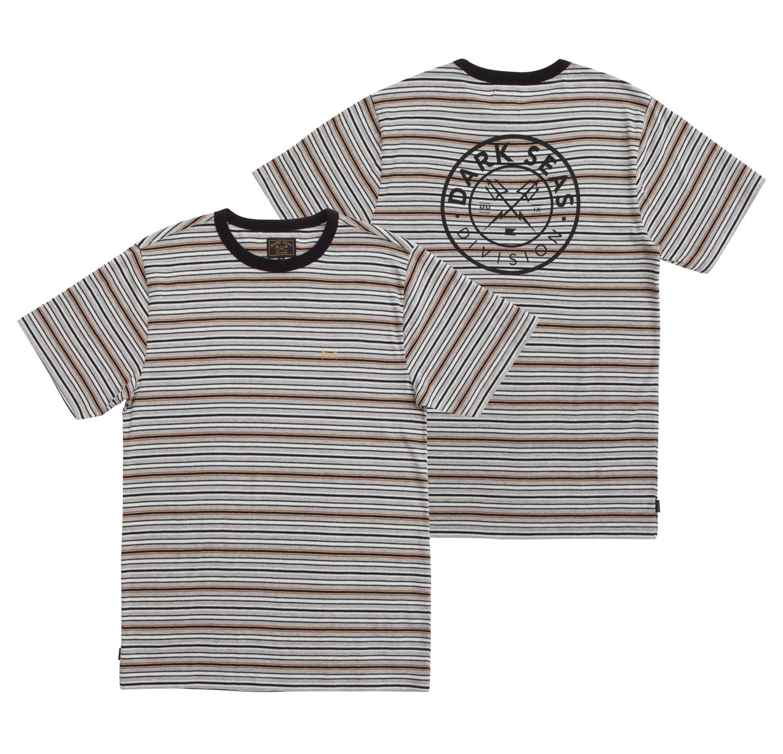Dark Seas Pierce Tee Grey Heather