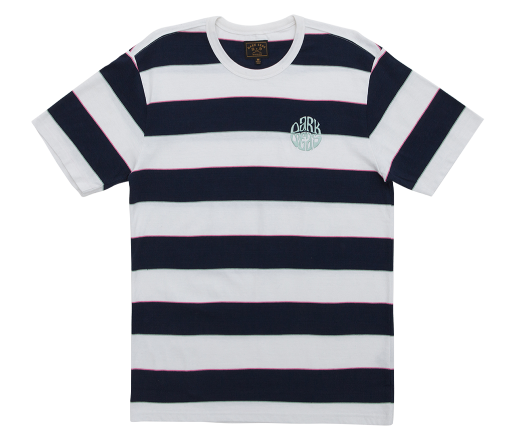 Dark Seas Mondo Crew Tee White/Navy