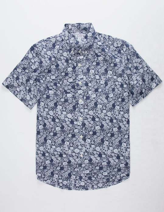 Catch Surf Carlisle Shortsleeve Woven Navy