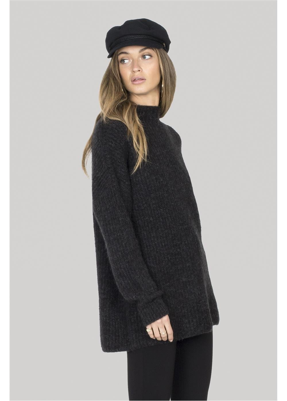 Amuse Society Lets Snuggle Sweater Black