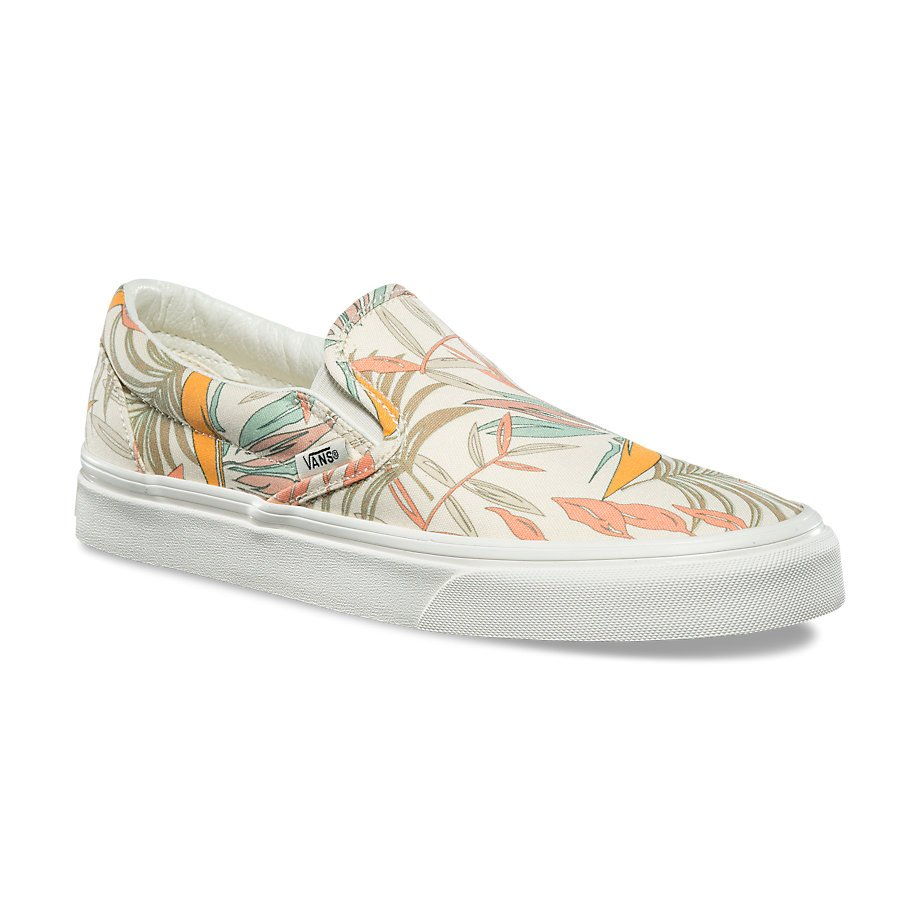 978c809437 Vans Classic Slip-On (California Floral) Marshmallow Marshmallow ...