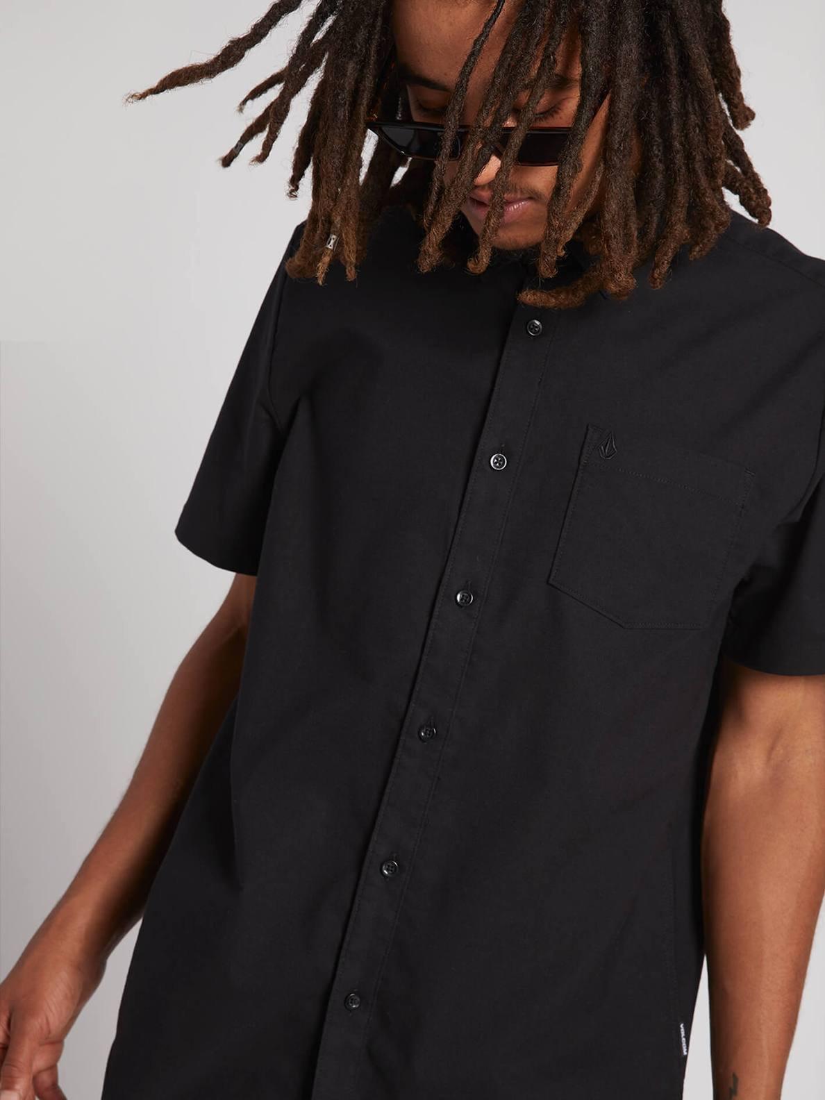 Volcom Everett Oxford Shortsleeve Shirt New Black