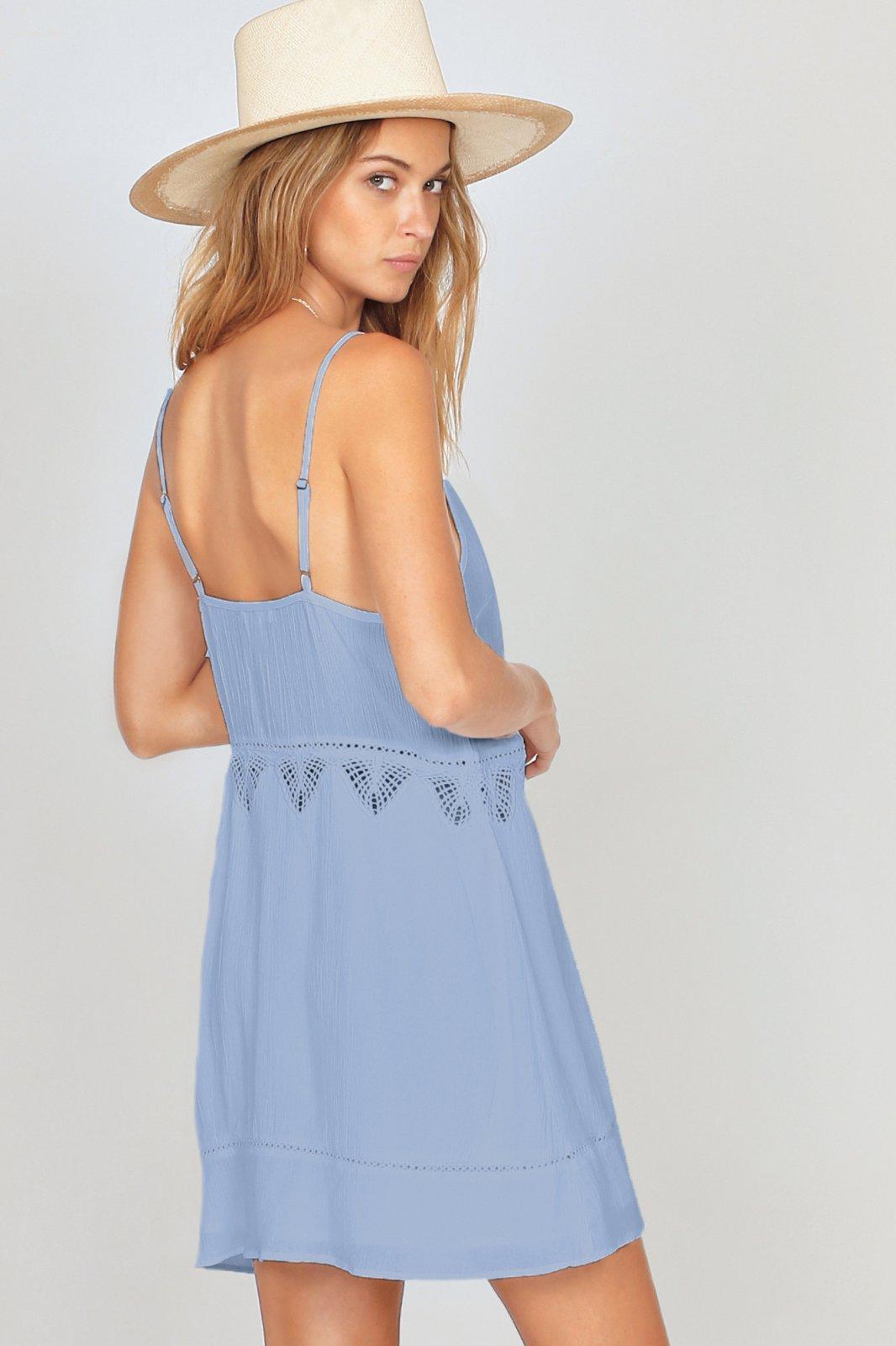 Amuse Society Beach Luxe Dress Light Blue
