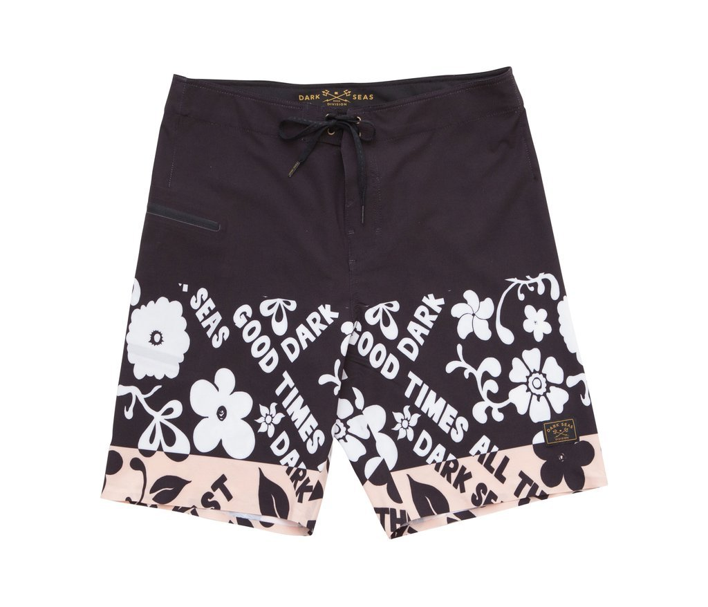 Dark Seas Blackwall Boardshorts Black/White