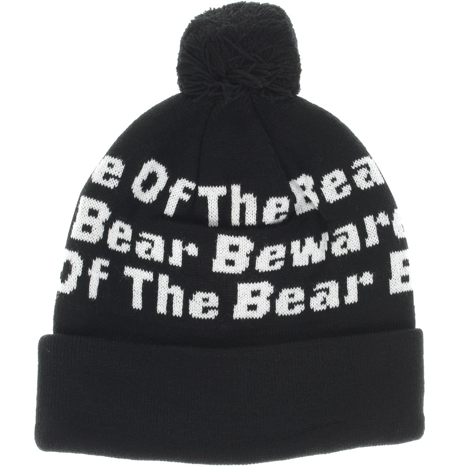 Grizzly BOTB Pom Beanie Black