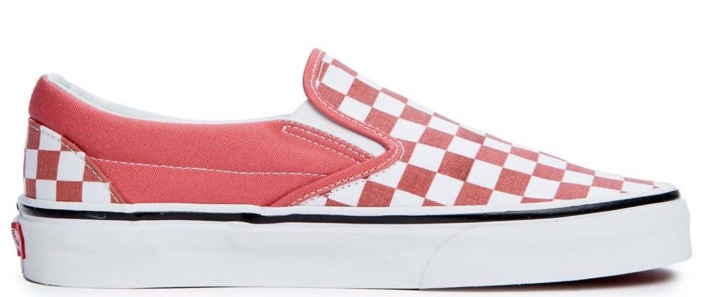 2a5d9db66ce7 Vans Classic Slip-On (Checkerboard) Faded Rose  True White ...