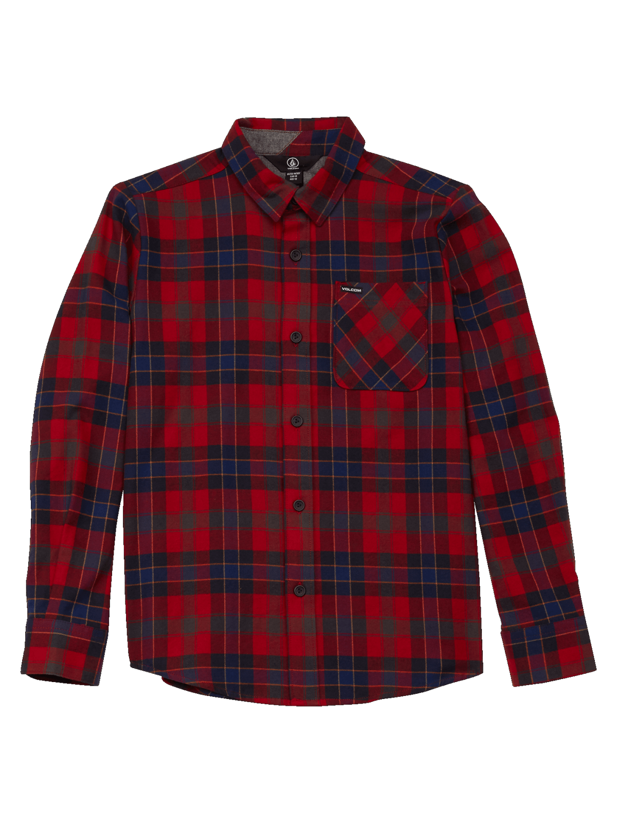 Volcom Boys (8-14) Caden Plaid Shirt Engine Red
