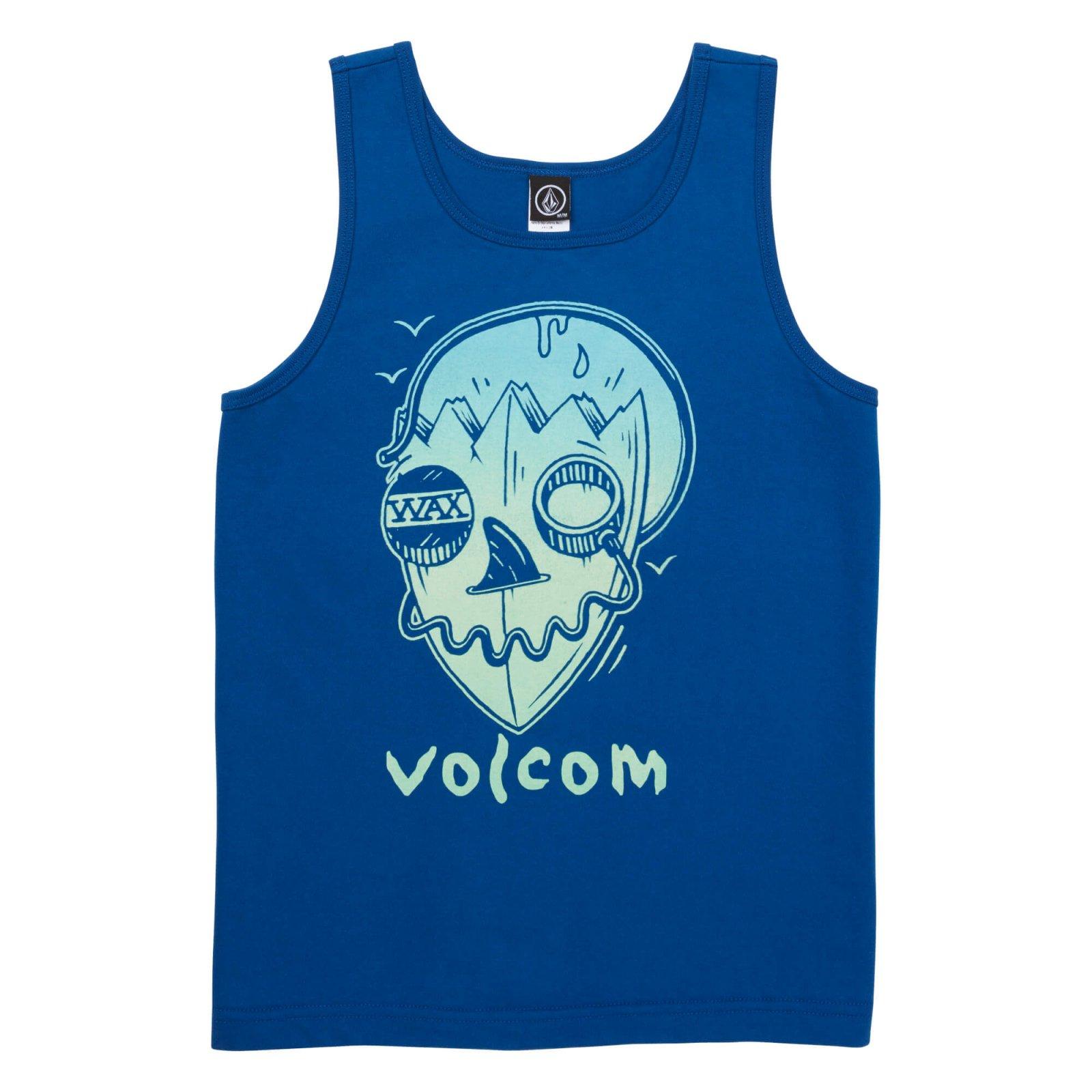 Volcom Boys Surf Skull Tank Camper Blue