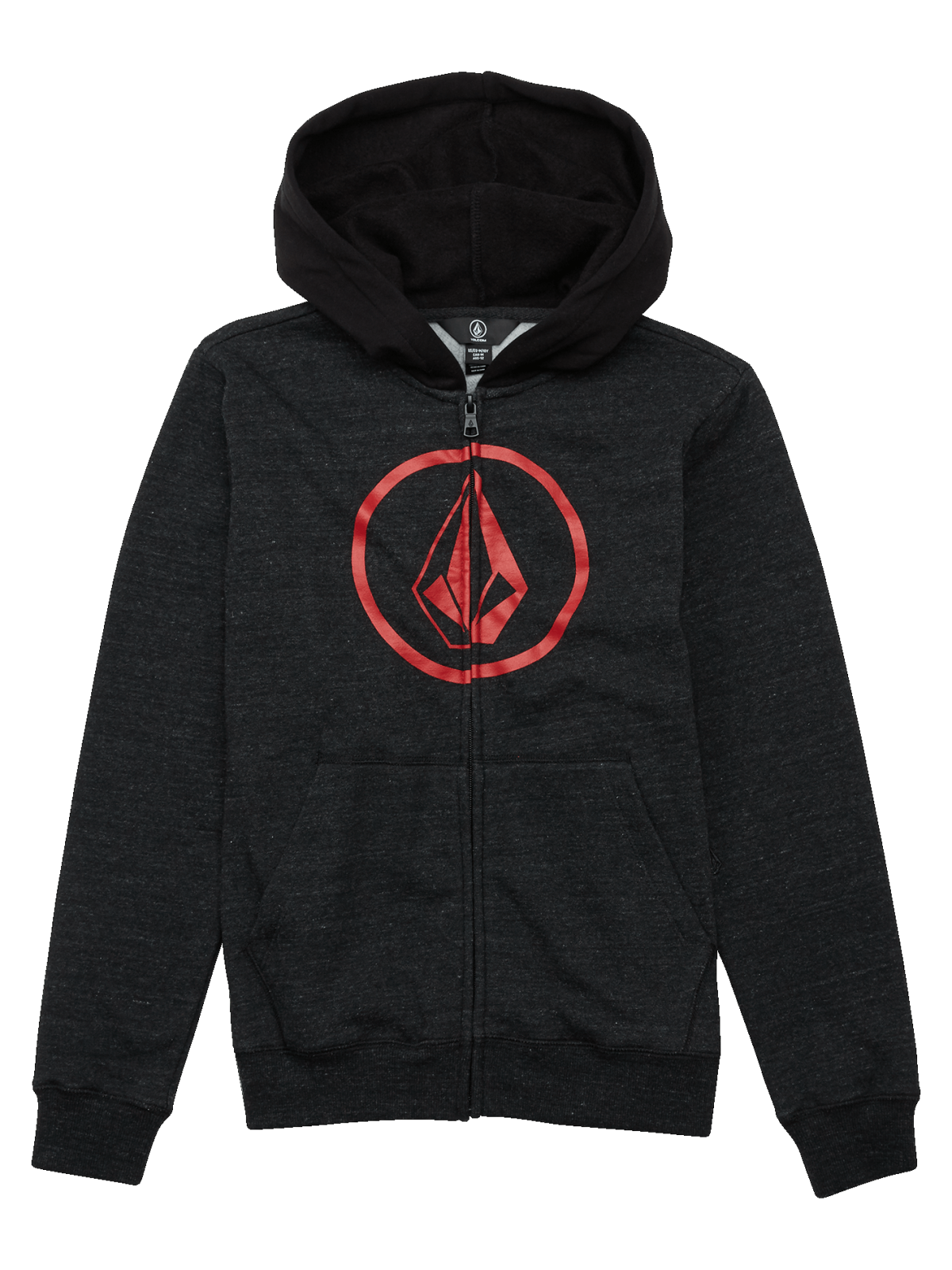 Volcom Boys (8-14) Stone Zip Fleece Sulfur Black