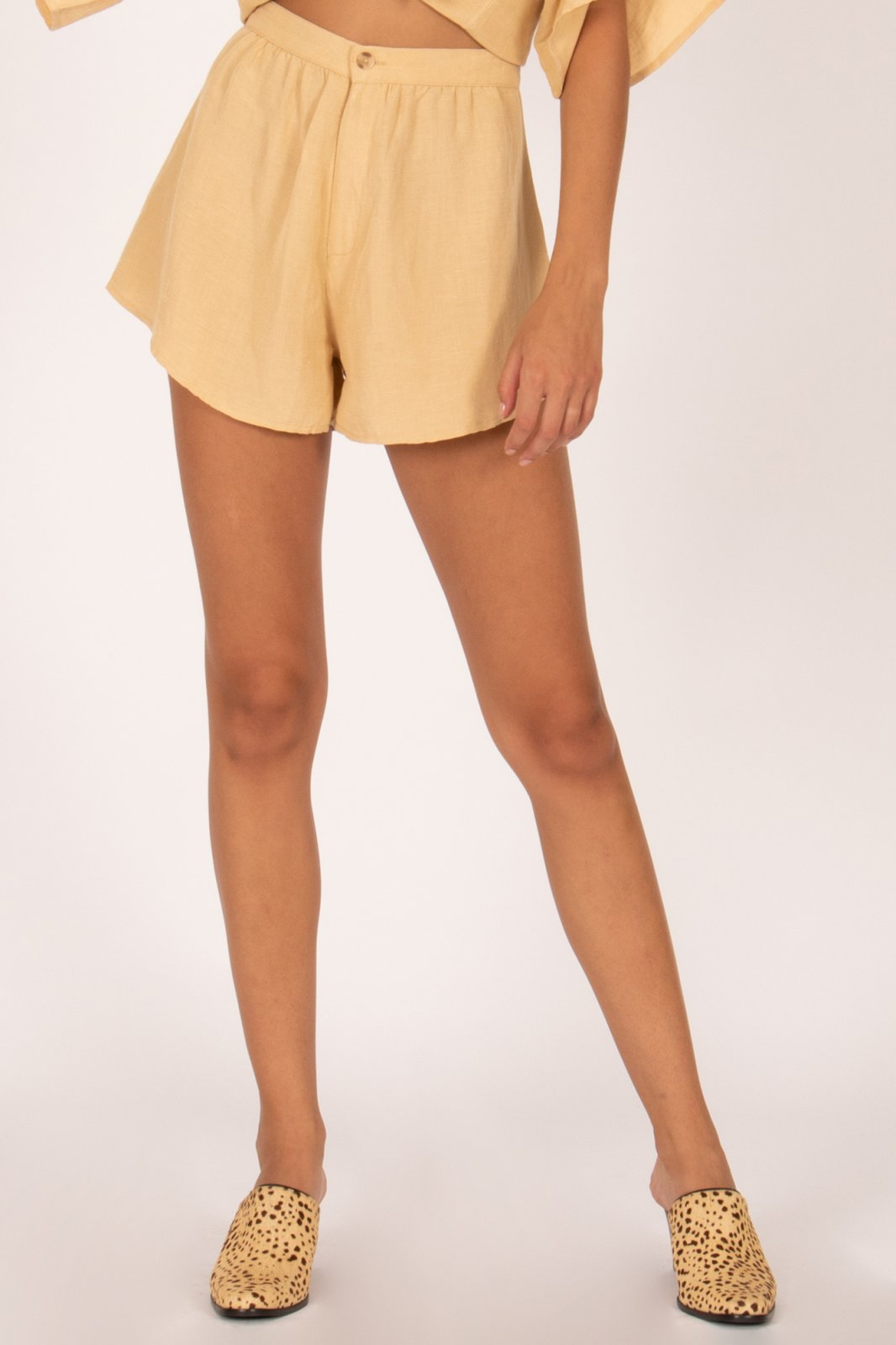 Amuse Society Canopy High Waisted Woven Short Latte