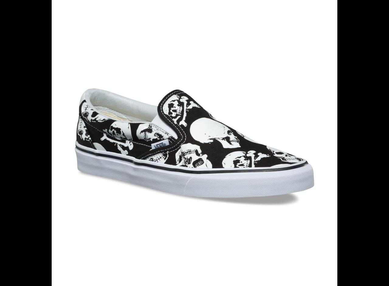 Vans Classic Slip-On (Skulls) Black/White
