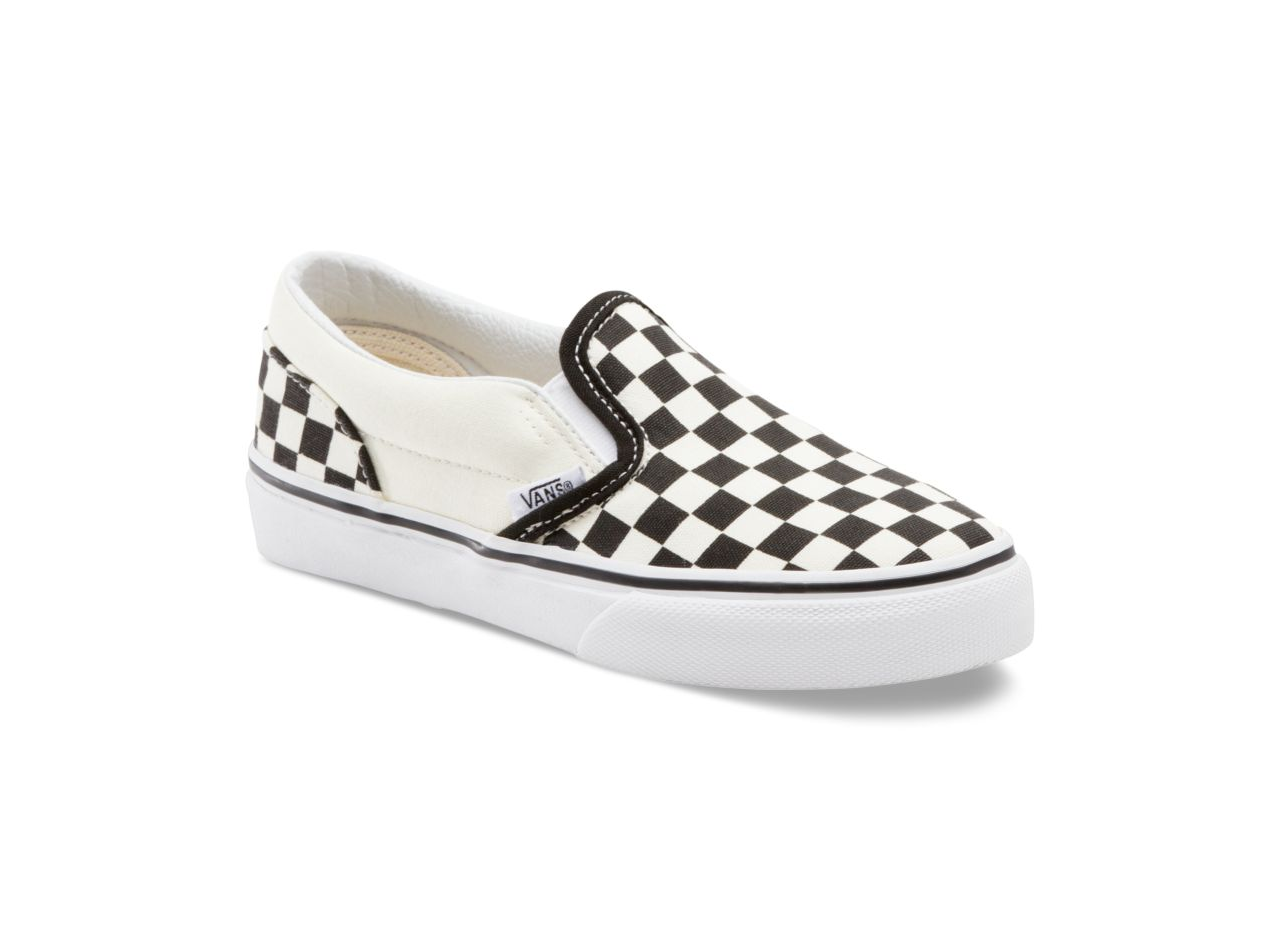 Vans Toddlers Classic Slip-On (Checkerboard) Black/White