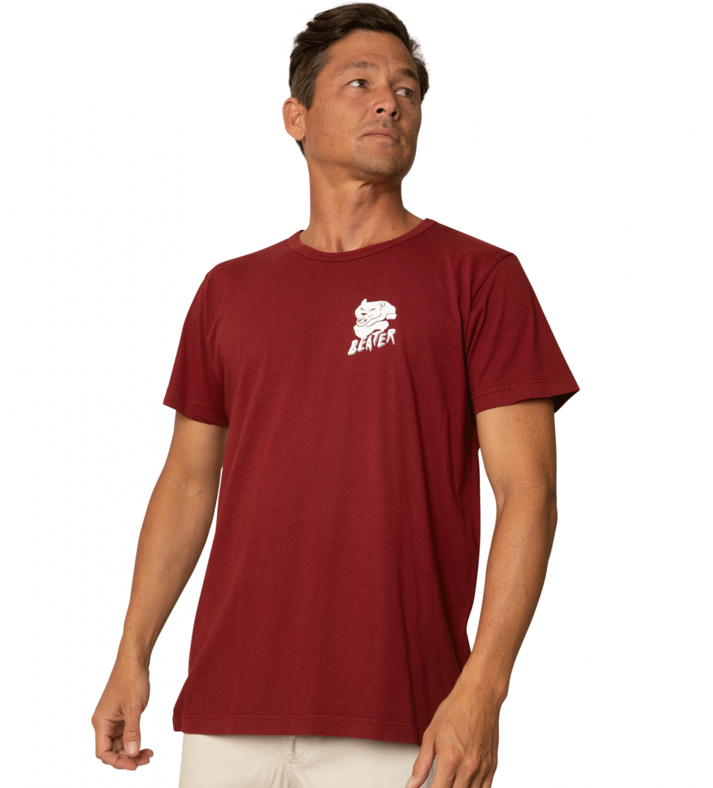 Catch Surf Beater Tee Burgundy