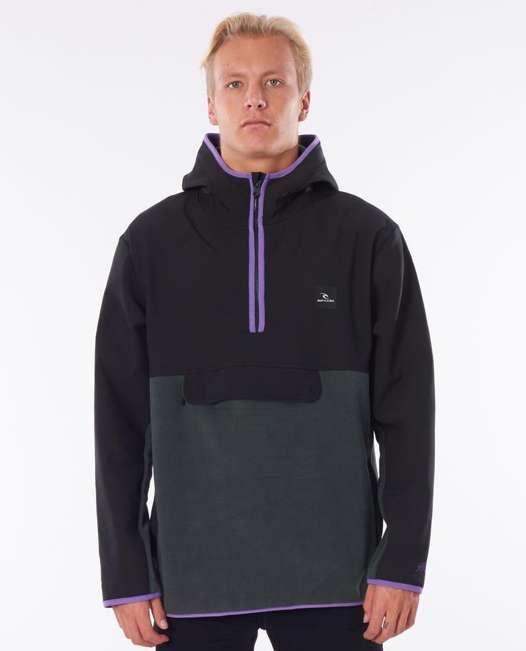Rip Curl Hike Anti Series Zip Through Hood Black