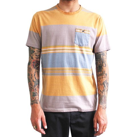 Captain Fin Beach Stripe SS Knit Turquoise