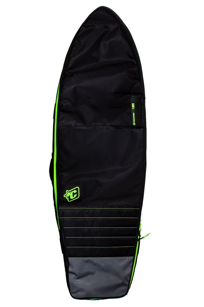 Creatures of Leisure Fish Double Travel Bag Black Lime '18