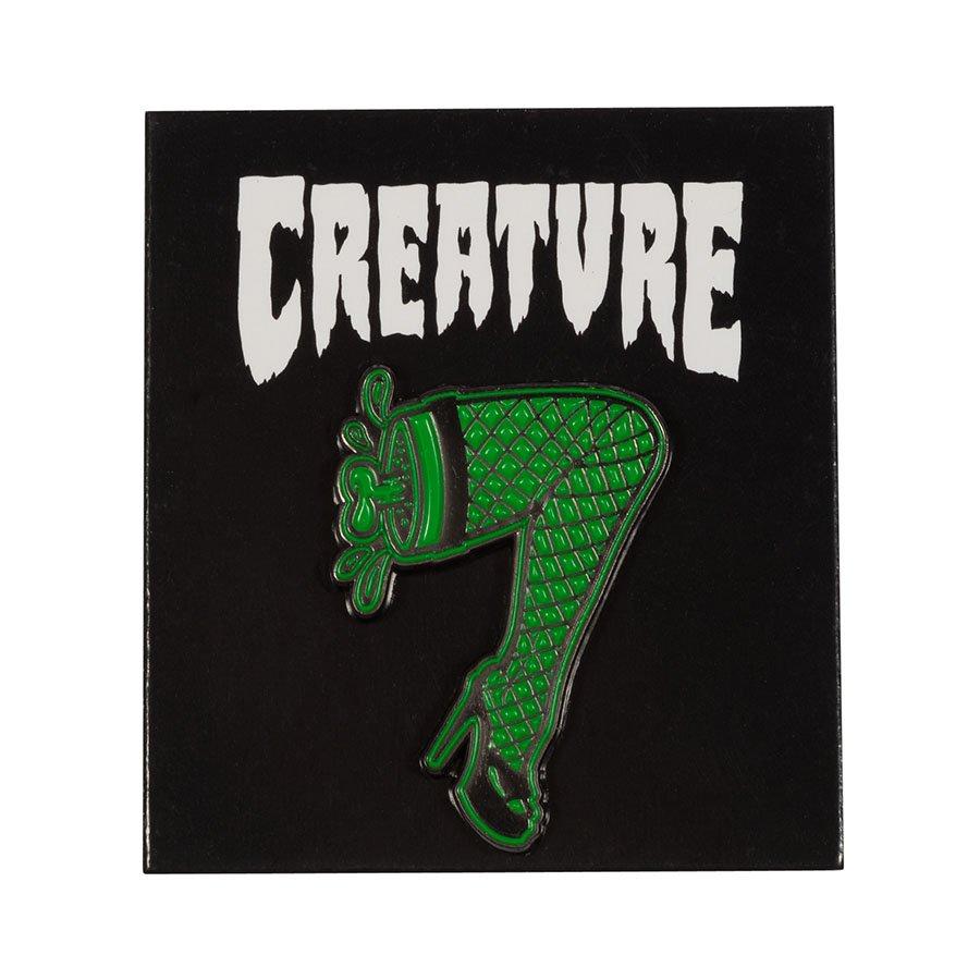 Creature Burlesque Push Back Pin Green/Black