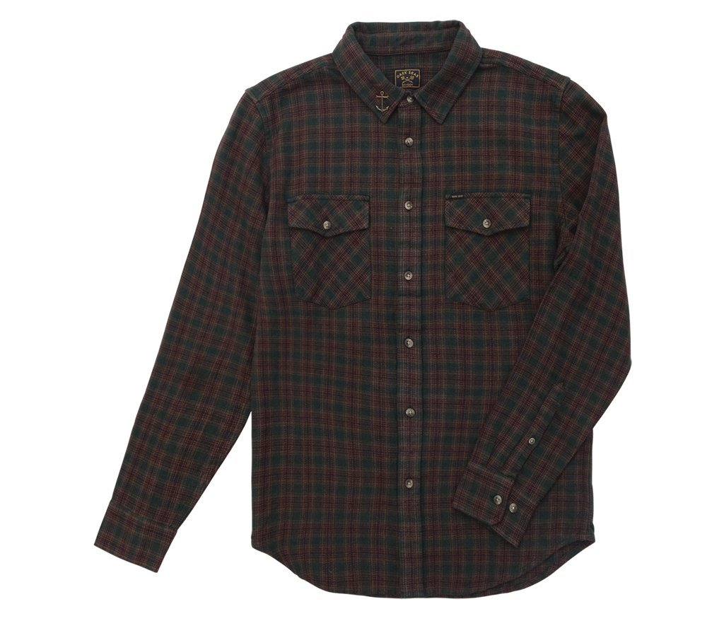 Dark Seas Del Norte Flannel Green