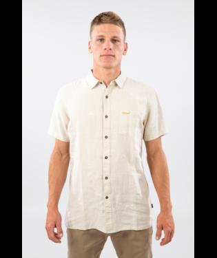Rip Curl Salt Water Culture Motif Linen Shortsleeve Shirt Stone