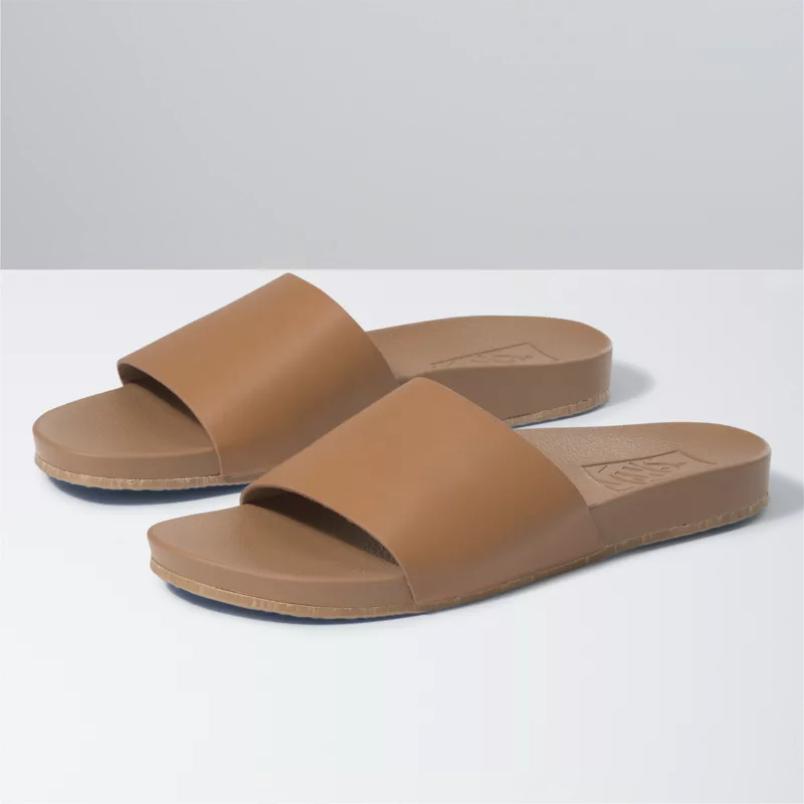 Vans Decon Slide (Leather) Chipmunk