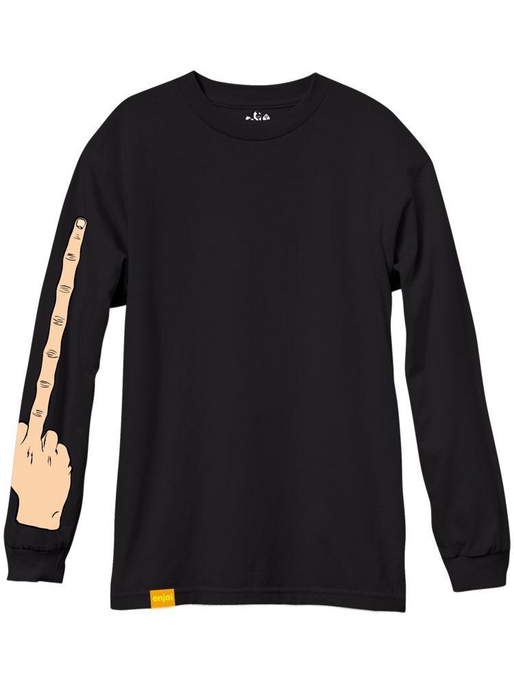 Enjoi The Bird Long Sleeve T-Shirt Black