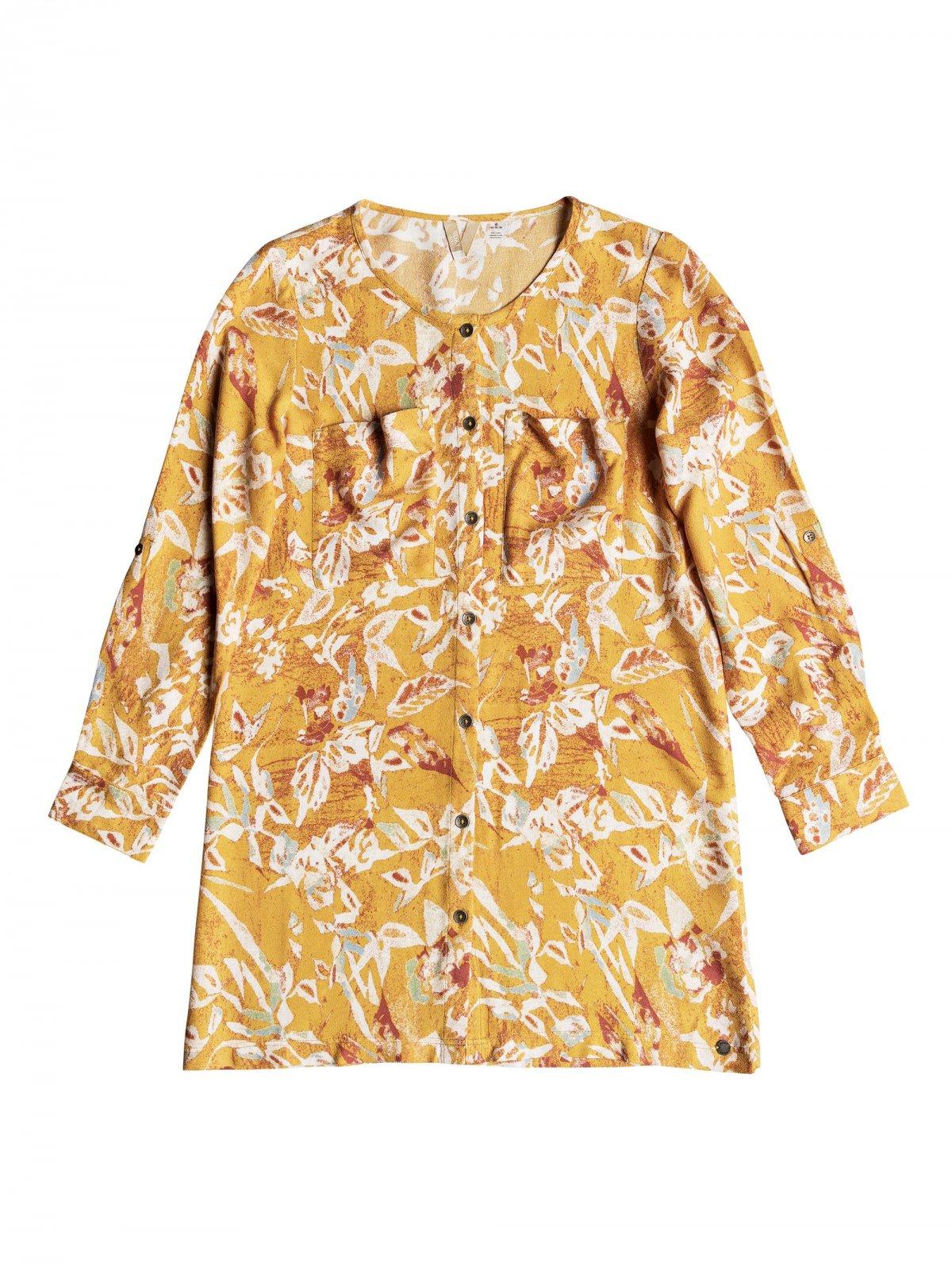 Roxy Sun Is Shining Moss Dress Fall Leaf Pendulum