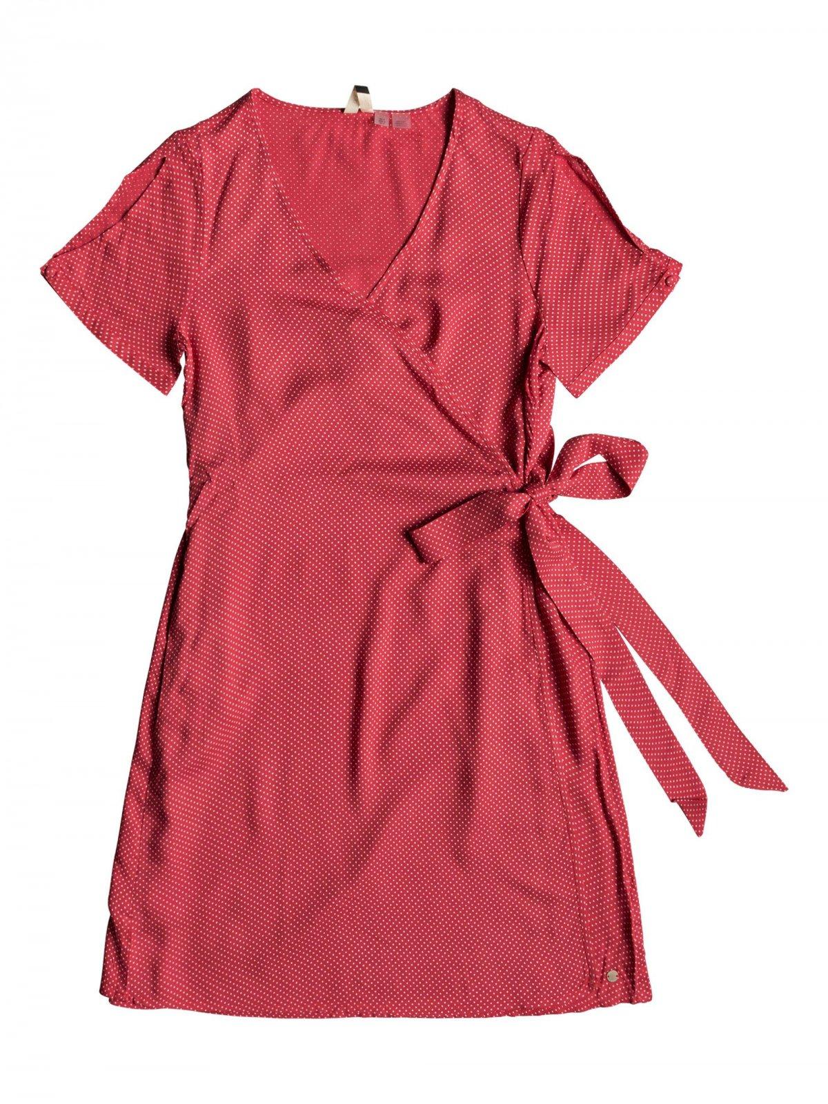 Roxy Monument View Dress American Beauty Polkadot