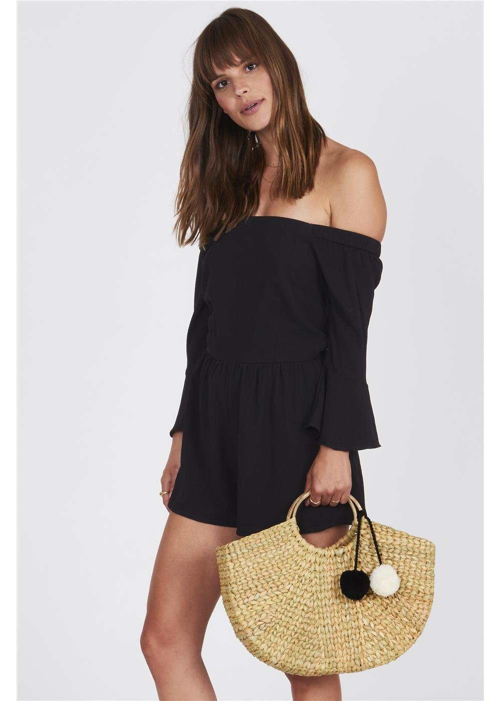 Amuse Society Pia Romper Black
