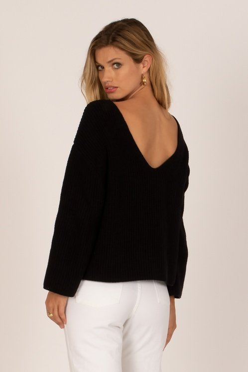 Amuse Society Sunset Road Sweater Black Sands