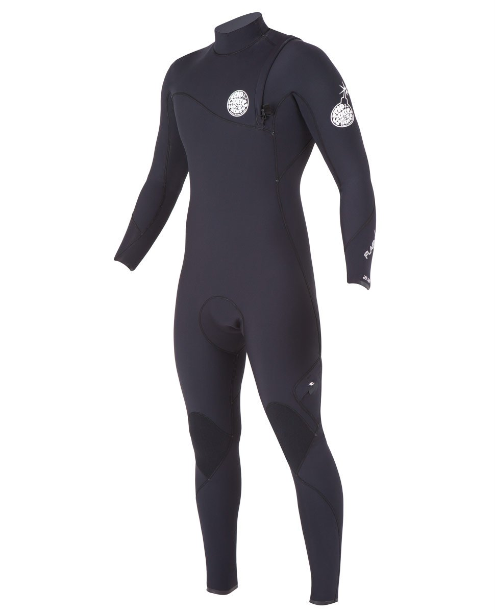 Rip Curl Flash Bomb Zip Free 4/3 Fullsuit Black