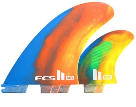 FCS II MR PC Twin + Stabilizer Fins Color Swirl