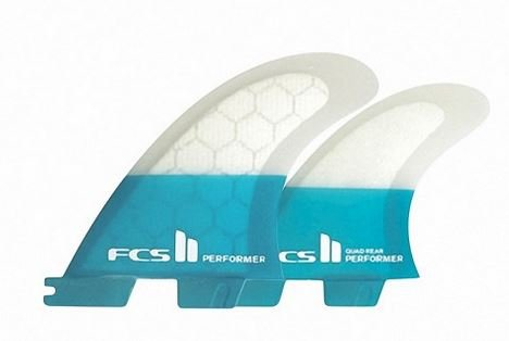 FCS II Performer PC Teal Quad Fin Set