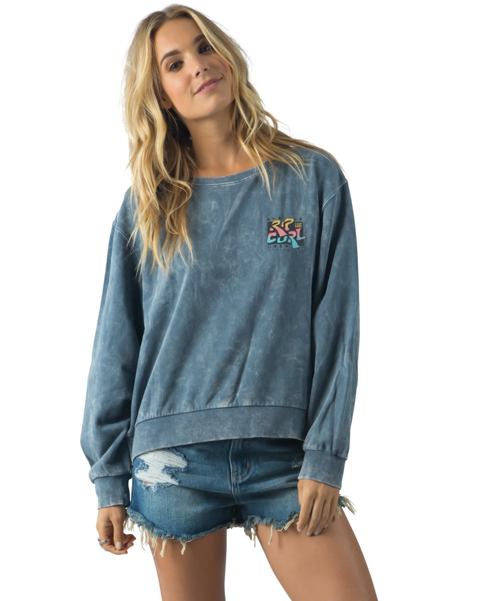 Rip Curl Washed Ashore Crew Fleece Slate Blue