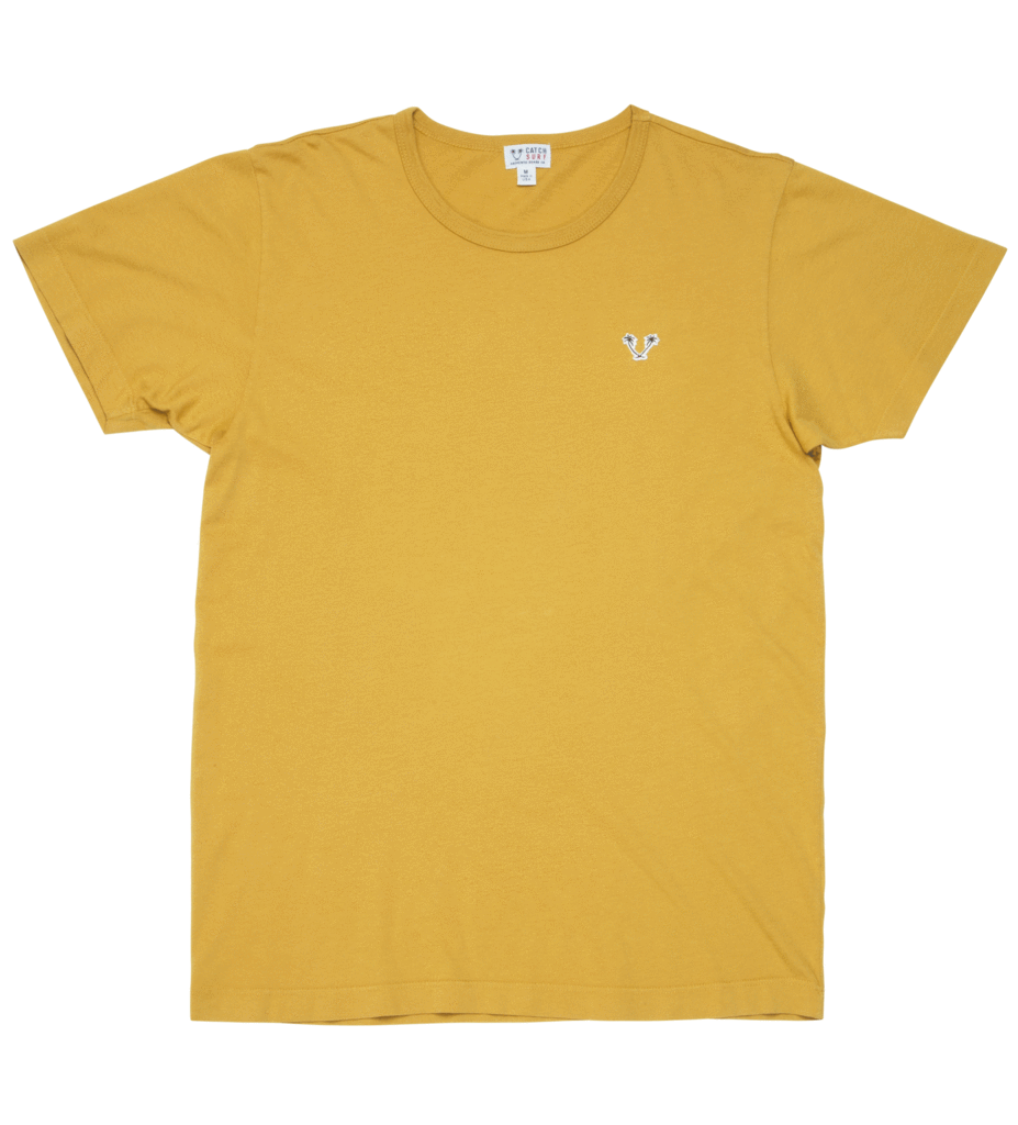 Catch Surf Short Sleeve Heritage Tee Gold