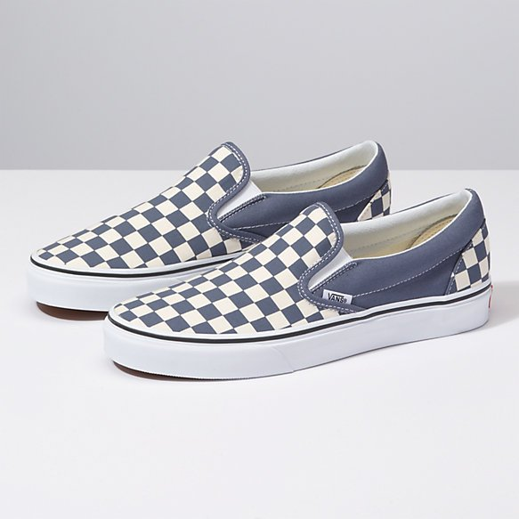 Vans Classic Slip-On (Checkerboard) Grisaille True White - 192363298733 af7f60ce5