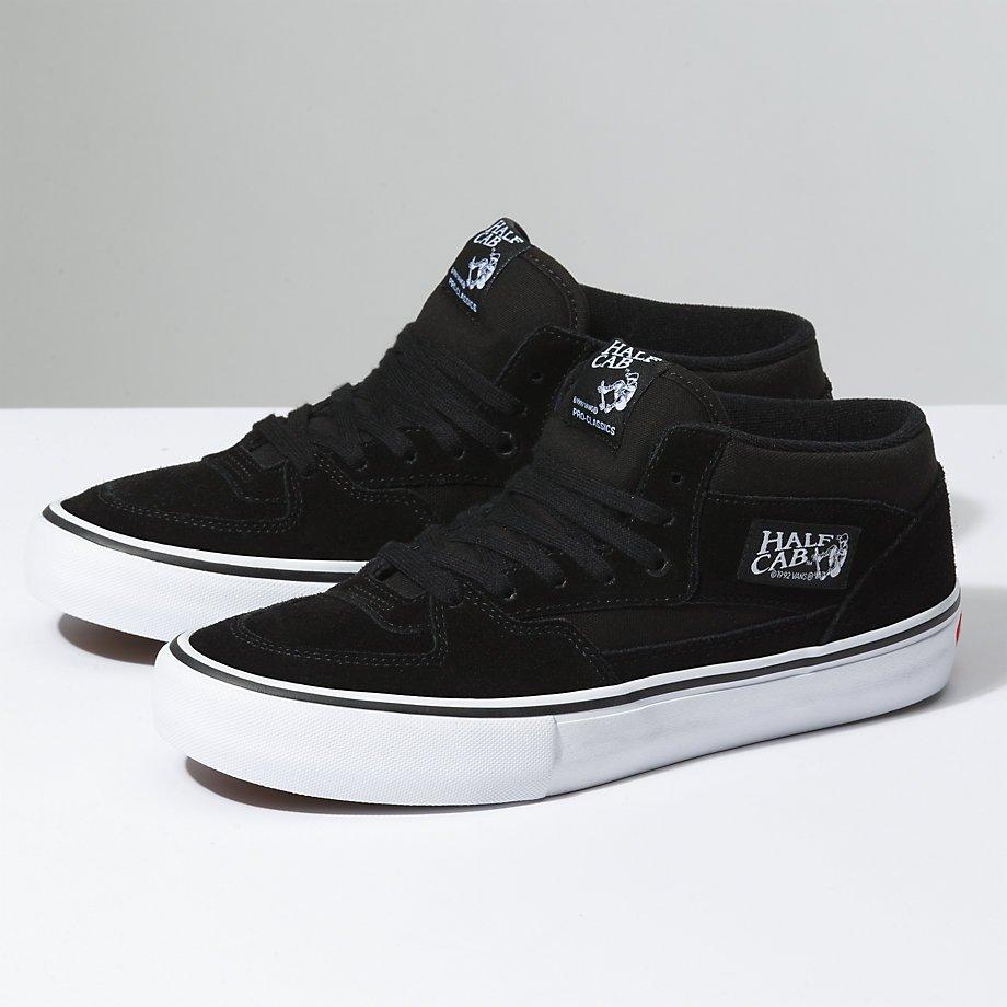 Vans Half Cab Pro Shoe Black/Black/White