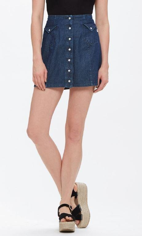 Obey Hudson Skirt Indigo