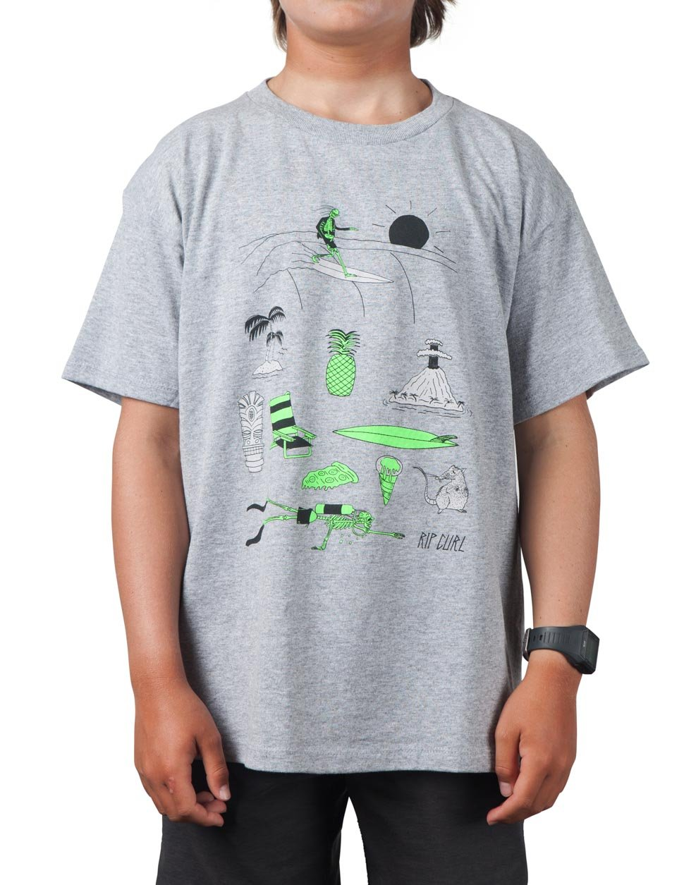Rip Curl Boys Island Fever Heather Tee Athletic Heather