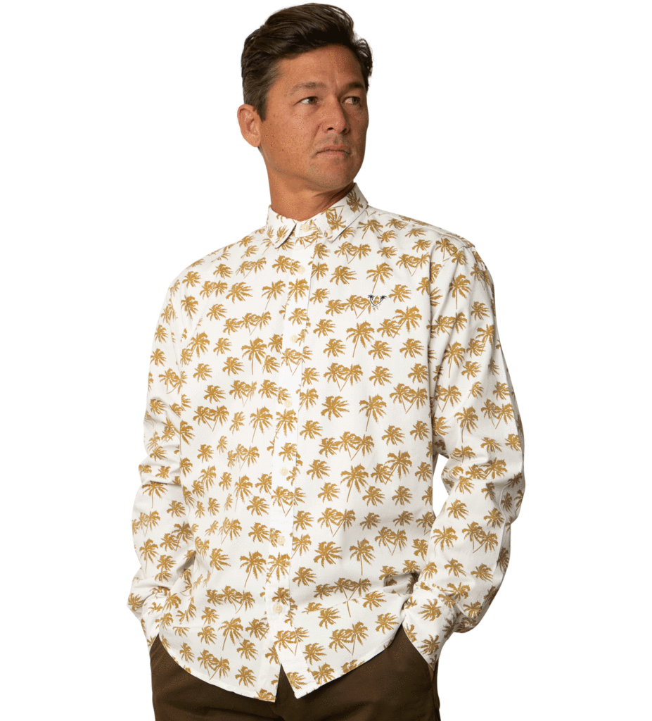 Catch Surf Randy Longsleeve Woven Gold