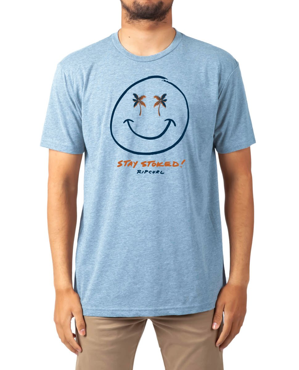 Rip Curl Boys Good Vibes Heather Tee Light Blue Heather