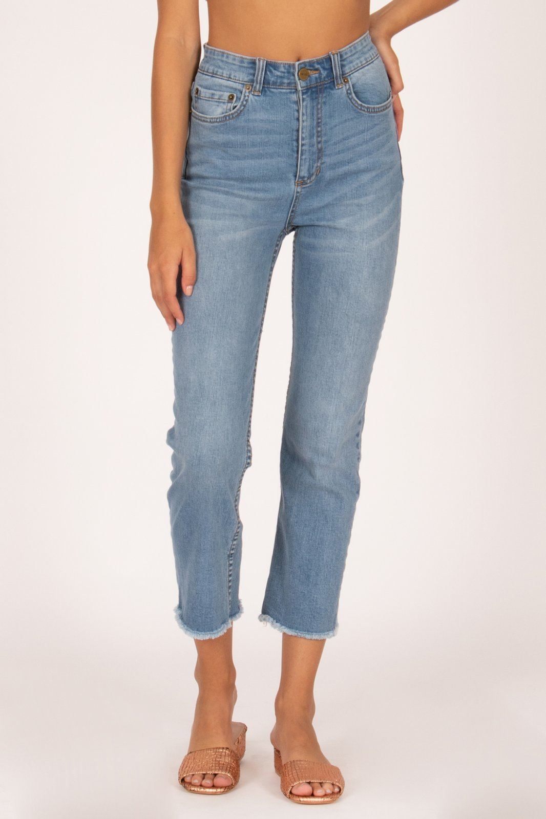 Amuse Society La Vida Denim Pant Blue Wash