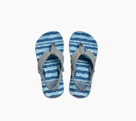 Reef Boys Ahi Sandal Blue Gray Ocean