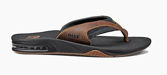 Reef Leather Fanning Black/Brown